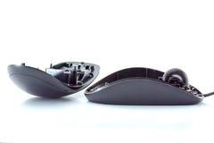 Το παλαιό μαύρο ποντίκι ανοίγουν Στοκ Εικόνα