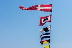 Το παλαιό ναυτικό σημαιοστολίζει το σήμα Στοκ Εικόνα