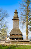 Το παλαιό ξύλινο εκκλησία-μουσείο σε Kolochava Transcarpathia Ukra Στοκ Εικόνες