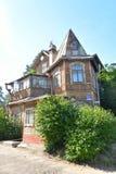 Το παλαιό ξύλινο κτήριο στο χωριό Lisy αριθ. Στοκ Εικόνα