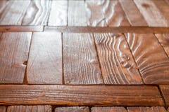 Το παλαιό ξύλινο πάτωμα στοκ φωτογραφίες