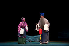 Το παλαιό περίπτερο αερακιού οπερών šJiangxi coupleï ¼ Στοκ Εικόνες