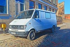 Το παλαιό πολωνικό φορτηγό Lublin Daewoo στάθμευσε στο Γντανσκ, Πολωνία στοκ εικόνες