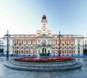 Το παλαιό ταχυδρομείο Puerta del Sol, χλμ 0, Μαδρίτη, Ισπανία Στοκ φωτογραφία με δικαίωμα ελεύθερης χρήσης