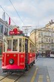 Το παλαιό τραμ στη Ιστανμπούλ Στοκ εικόνες με δικαίωμα ελεύθερης χρήσης