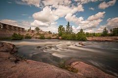 Το παλαιό φράγμα pinawa Στοκ Εικόνα