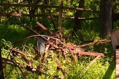 Το παλαιό χρονικό αγρόκτημα εφαρμόζει Στοκ Εικόνα