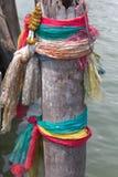 Το παλαιό ύφασμα σε τρία χρώματα Ταϊλάνδη Στοκ Φωτογραφίες