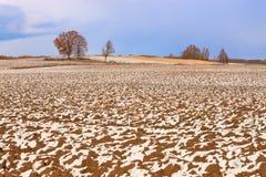 Το πεδίο στο χιόνι. Στοκ Φωτογραφία