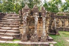 Το πεζούλι των ελεφάντων σε Angkor, Siem συγκεντρώνει, Καμπότζη λ Στοκ φωτογραφία με δικαίωμα ελεύθερης χρήσης