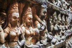 Το πεζούλι του βασιλιά λεπρών σε Angkor, Siem συγκεντρώνει, Καμπότζη Στοκ εικόνες με δικαίωμα ελεύθερης χρήσης