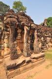 Το πεζούλι των ελεφάντων, Angkor Thom, κοντά σε Siem συγκεντρώνει, Καμπότζη. Στοκ εικόνες με δικαίωμα ελεύθερης χρήσης