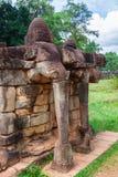 Το πεζούλι των ελεφάντων, Angkor Thom, Siem συγκεντρώνει, Καμπότζη Στοκ Φωτογραφίες