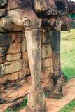Το πεζούλι των ελεφάντων, Angkor Thom, Siem συγκεντρώνει, Καμπότζη Στοκ εικόνα με δικαίωμα ελεύθερης χρήσης