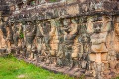 Το πεζούλι των ελεφάντων, Angkor Thom, Siem συγκεντρώνει, Καμπότζη Στοκ φωτογραφία με δικαίωμα ελεύθερης χρήσης