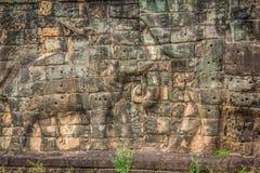 Το πεζούλι των ελεφάντων, Angkor Thom, Siem συγκεντρώνει, Καμπότζη Στοκ Εικόνα