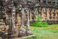Το πεζούλι των ελεφάντων, Angkor Thom, Siem συγκεντρώνει, Καμπότζη Στοκ Εικόνες