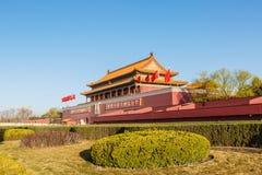 Το Πεκίνο το κτήριο είναι ένα σύμβολο της Λαϊκής Δημοκρατίας της Κίνας Στοκ Φωτογραφίες