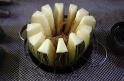Το πεπόνι τεμαχίζει τα φρούτα στοκ φωτογραφίες με δικαίωμα ελεύθερης χρήσης