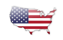 το περίγραμμα χαρτών περιγράμματος δηλώνει τις ΗΠΑ Στοκ Φωτογραφίες