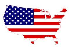 το περίγραμμα χαρτών περιγράμματος δηλώνει τις ΗΠΑ Στοκ Εικόνες