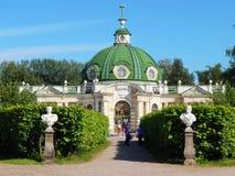 Το περίπτερο Grotto στο αρχιτεκτονικό σύνολο Kuskovo, Μόσχα πάρκων Στοκ Φωτογραφία