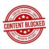 Το περιεχόμενο εμπόδισε το κόκκινο γραμματόσημο Grunge r στοκ φωτογραφίες με δικαίωμα ελεύθερης χρήσης