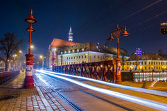 Το περισσότερο Piaskowy η κόκκινη γέφυρα σε Wroclaw, Σιλεσία, Πολωνία Στοκ φωτογραφία με δικαίωμα ελεύθερης χρήσης