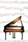 Το πιάνο σημειώνει τη μουσική Στοκ Φωτογραφίες