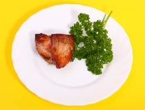 το πιάτο κρέατος ανασκόπη&si Στοκ Εικόνες