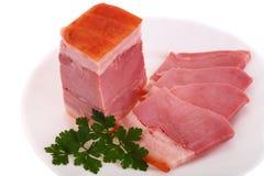 το πιάτο κρέατος κάπνισε τ&o Στοκ Φωτογραφία