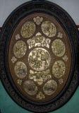 Το πιάτο ορείχαλκου παρουσιάζει σε Ramayan το έπος Στοκ Εικόνα