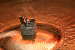 το πιάτο παίζει τύμπανο το εξόγκωμα Στοκ Εικόνα