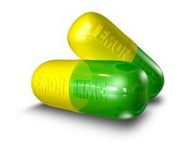 το πικρό χάπι καταπίνει Στοκ εικόνα με δικαίωμα ελεύθερης χρήσης