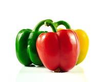 Το πιπέρι του Cayenne που απομονώνεται σε ένα άσπρο υπόβαθρο Στοκ Εικόνα