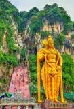 Το πιό ψηλό άγαλμα Murugan, μια ινδή θεότητα, στην είσοδο Batu ανασκάπτει - Κουάλα Λουμπούρ, Μαλαισία Στοκ φωτογραφίες με δικαίωμα ελεύθερης χρήσης