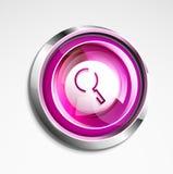 Το πιό magnifyier κουμπί Ιστού αναζήτησης, ενισχύει το εικονίδιο Σύγχρονη ενίσχυση - σημάδι γυαλιού, σχέδιο ιστοχώρου ή κινητό ap Στοκ Εικόνες