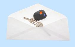 Το πλήκτρο στο ανοικτό ταχυδρομείο τυλίγει. Στοκ Φωτογραφίες