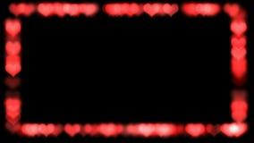 Το πλαίσιο των κόκκινων καρδιών, βίντεο HD ελεύθερη απεικόνιση δικαιώματος