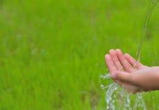 Το πλύσιμο παραδίδει την έννοια φύσης στοκ εικόνες με δικαίωμα ελεύθερης χρήσης