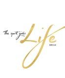 Το πνεύμα δίνει την τέχνη Scripture Βίβλων ζωής Στοκ Φωτογραφίες