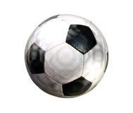 το ποδόσφαιρο απομόνωσε & Στοκ Φωτογραφία
