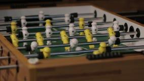 Το ποδόσφαιρο επιτραπέζιου ποδοσφαίρου απόθεμα βίντεο