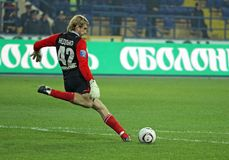 το ποδόσφαιρο kharkiv lutsk ταιριάζ&eps Στοκ Εικόνα