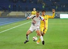 το ποδόσφαιρο kharkiv lutsk ταιριάζ&eps Στοκ Φωτογραφίες