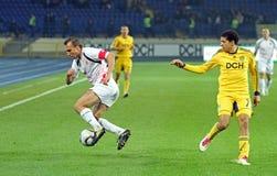 το ποδόσφαιρο kharkiv lutsk ταιριάζ&eps Στοκ Εικόνες
