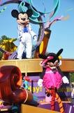 Το ποντίκι εμπαιγμών σε ένα όνειρο πραγματοποιείται γιορτάζει την παρέλαση Στοκ Φωτογραφίες