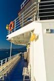 Το πορθμείο διευθύνει στο λιμάνι Limenas στο νησί Thassos Στοκ Εικόνες