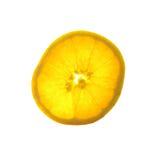 το πορτοκάλι ανασκόπησης τεμάχισε το λευκό Στοκ εικόνα με δικαίωμα ελεύθερης χρήσης