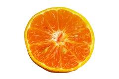 Το πορτοκάλι παίρνει την περικοπή στο μισό Στοκ εικόνα με δικαίωμα ελεύθερης χρήσης